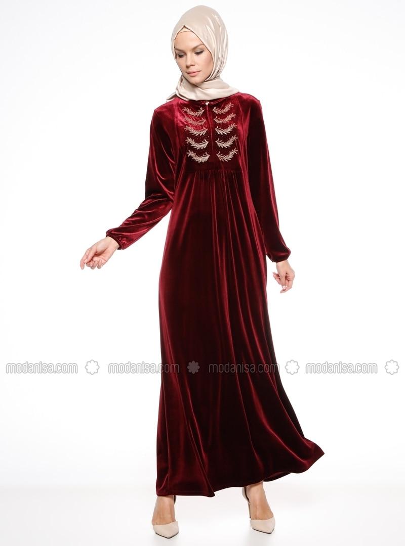 Tissu non double col chinois bordeaux robe ginezza for Robe col chinois