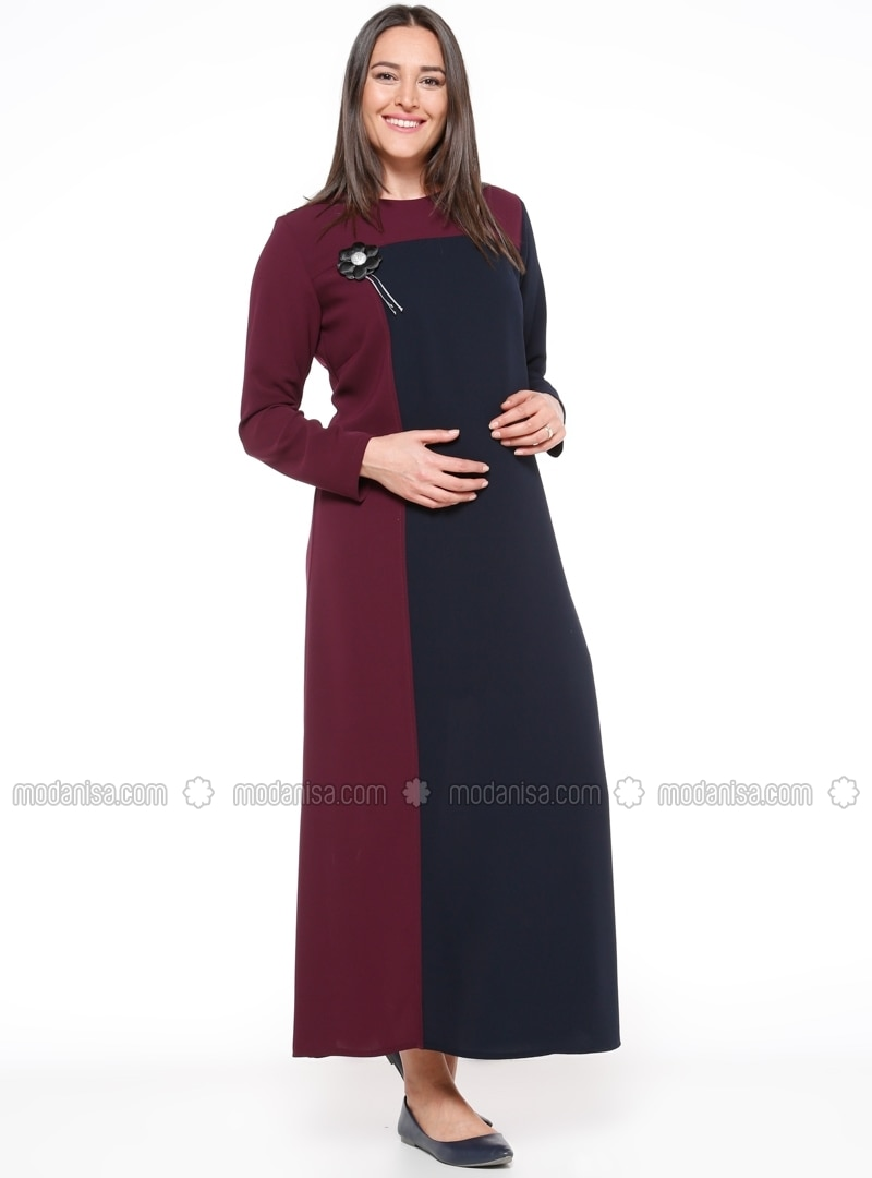Navy blue maternity dress best image ficcio navy blue purple crew neck unlined maternity dress havva ana ombrellifo Image collections