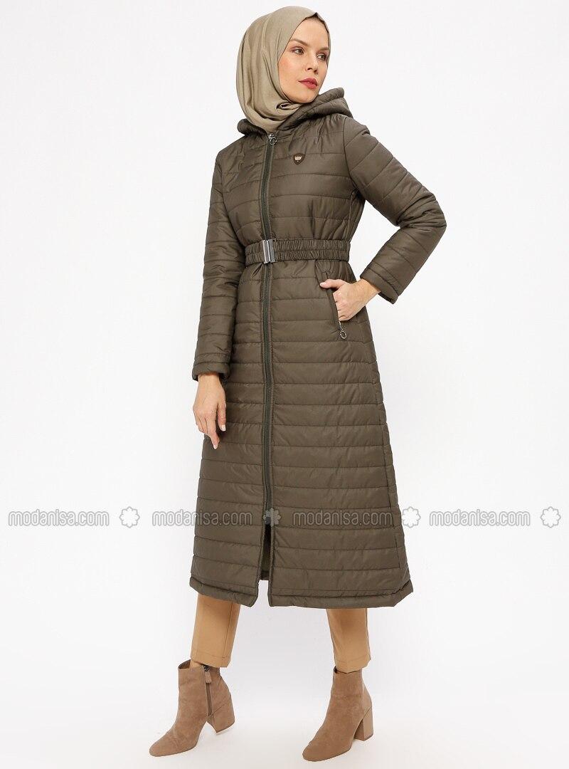 Khaki - Fully Lined - Coat