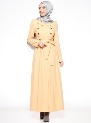 Point Collar - Unlined - Yellow - Cotton - Topcoat