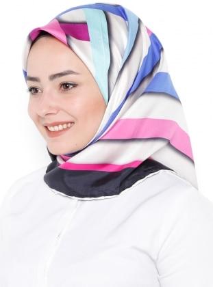 %100 Silk – Printed – Multi – Scarf – Silk Home