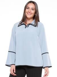 Biyeli Bluz - Mavi - NZL