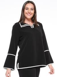 Biyeli Bluz - Siyah - NZL