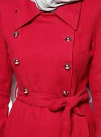 Cotton - Point Collar - Unlined - Maroon - Topcoat