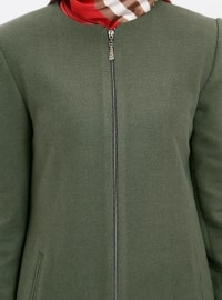 Crew neck - Fully Lined - Khaki - Coat