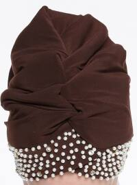 Plain - Brown - Instant Scarf