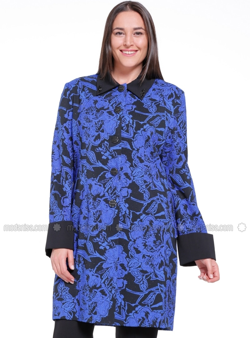 Saxe - Multi - Unlined - Point Collar - Plus Size Jacket