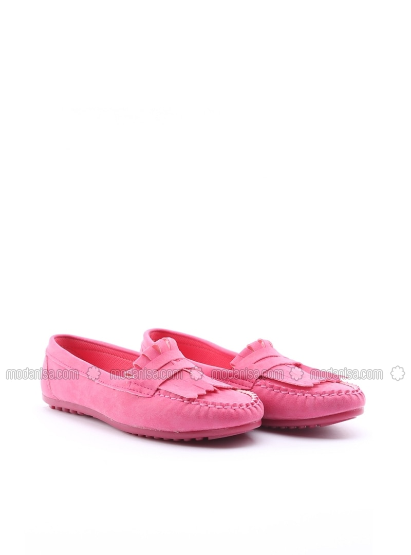 pink flat flat shoes limited edition