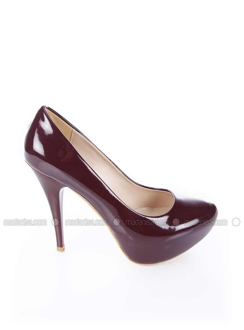 maroon high heel shoes b f g polo style