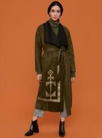 Khaki - Unlined - Shawl Collar - Coat