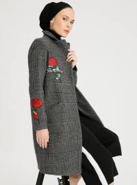 Kaşe Kaban - Gri - Fashion Box London