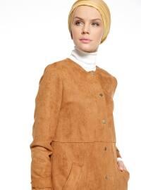Süet Trençkot - Camel - Fashion Box London