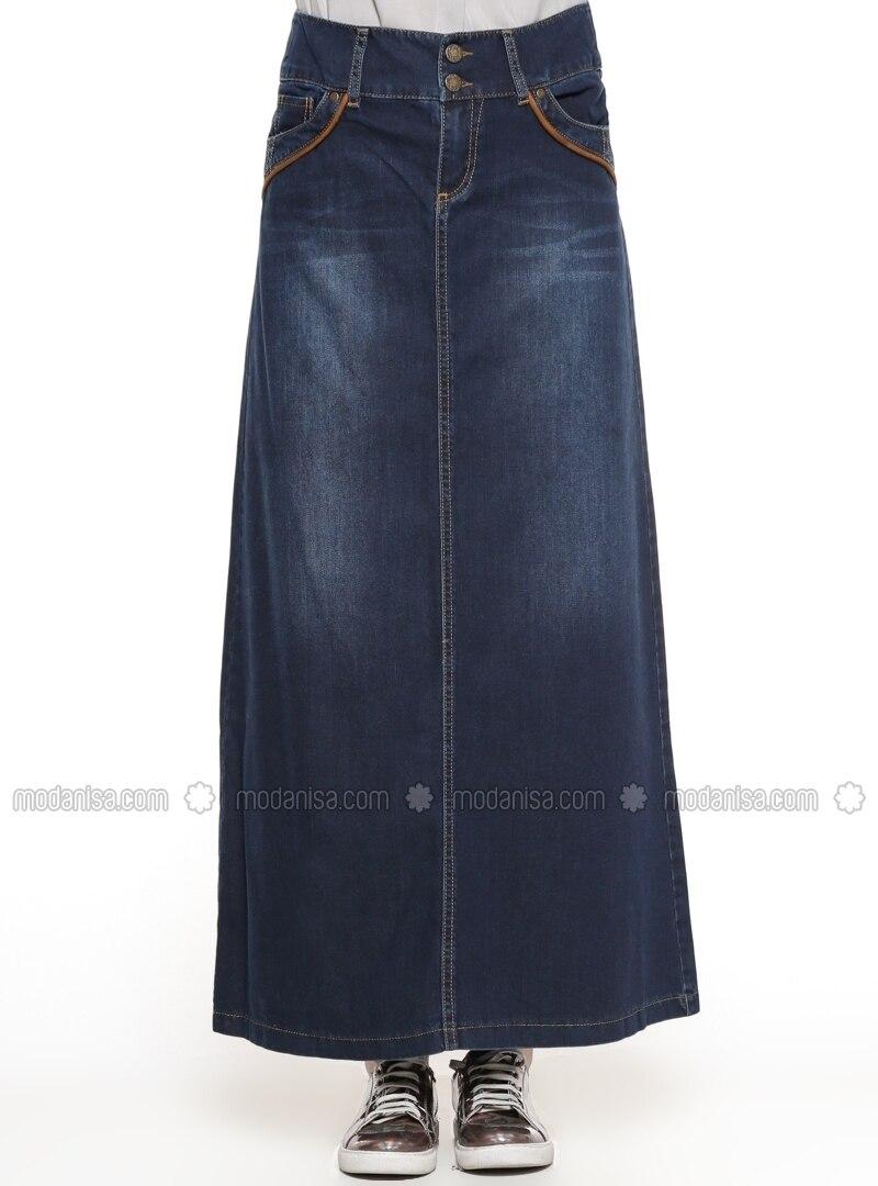 b61b272da9f Kookai Dark Navy Denim Skirt 34 (6)