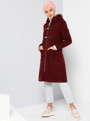 Maroon - Fully Lined - Coat
