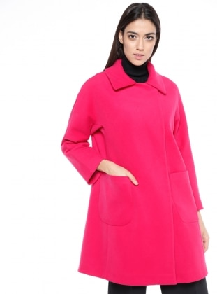 Pink - Fully Lined - Point Collar - Coat