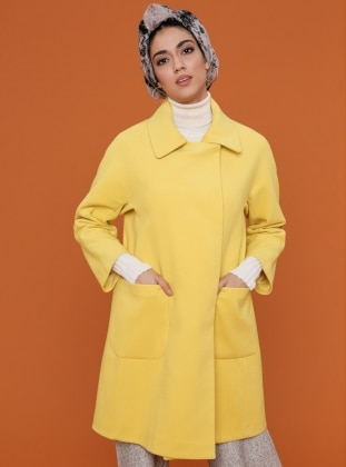 Yellow - Fully Lined - Point Collar - Coat
