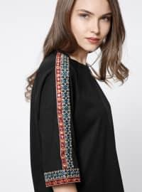 Nakış Detaylı Bluz - Siyah - Koton