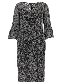 Dantelli Abiye Elbise - Siyah - Koton