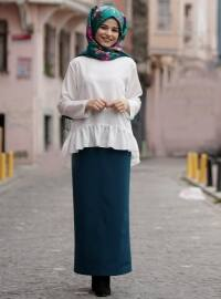 Petrol - Unlined - Skirt - Cool Vera