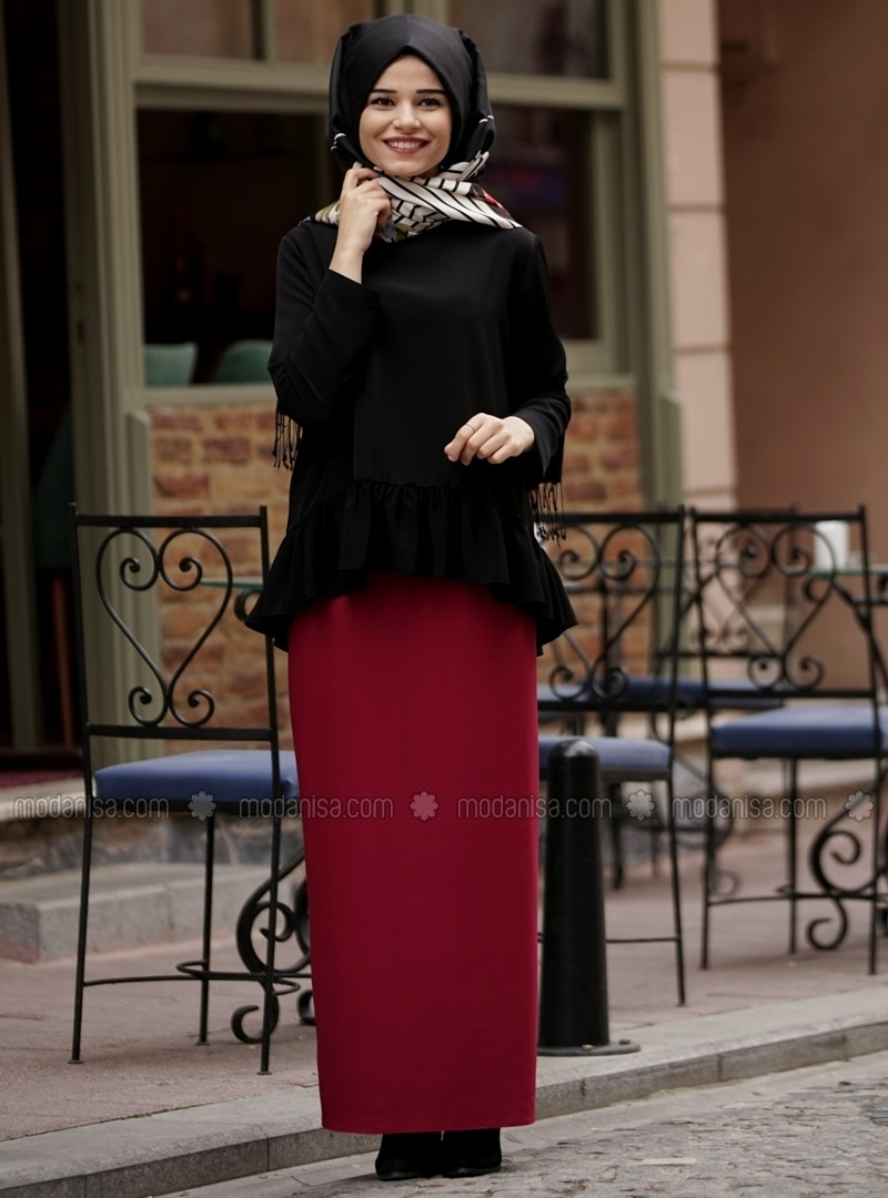Purple - Unlined - Skirt - Cool Vera
