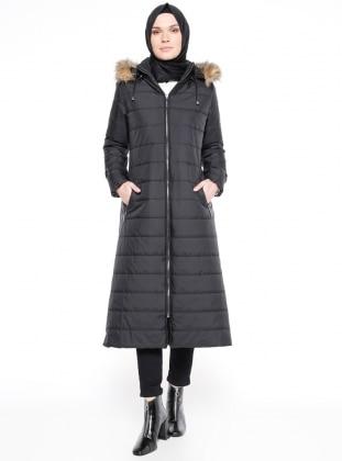 Black - Polo neck - Coat