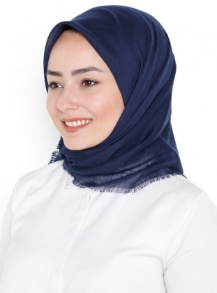 Plain - Viscose - Navy Blue - Scarf - Gülsoy