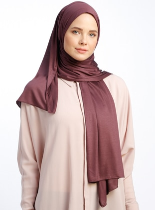 Plum- Plain - Pinless - Viscose - Sunshine Shawl - Şal