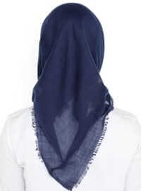 Plain - Viscose - Navy Blue - Scarf