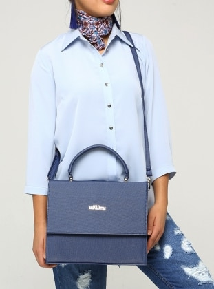 Navy Blue - Satchel - Bag - B.F.G POLO STYLE 355675