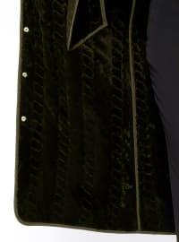Khaki - Unlined - Button Collar - Plus Size Coat