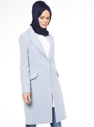Kaşe Kaban - Bebe Mavi - Fashion Box London Ürün Resmi