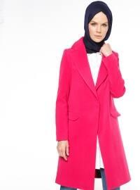 Kaşe Kaban - Fuşya - Fashion Box London