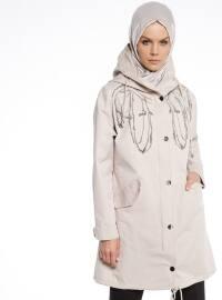 Gizli Fermuarlı Trençkot - Camel - Fashion Box London