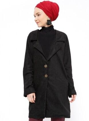 Black – Unlined – Shawl Collar – Topcoat – Peramood