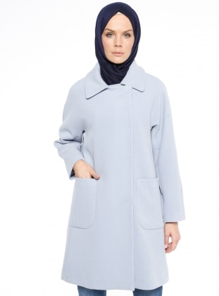 Blue - Fully Lined - Point Collar - Coat