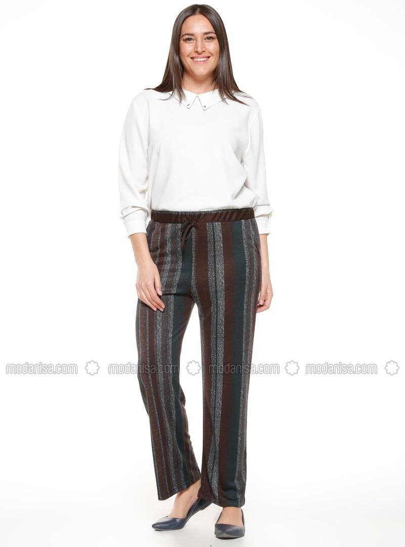 khaki - plus size pants - metex