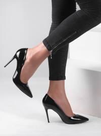Ayakkabı - Siyah rugan - Pembe Potin