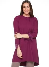 Crew neck - Purple - Plus Size Tunic