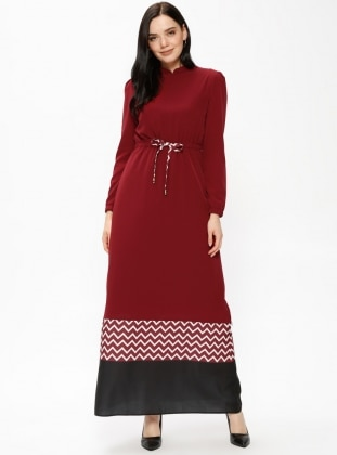 Fully Lined - Maroon - Dresses