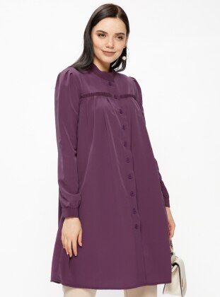 Pink - Purple - Button Collar - Tunic