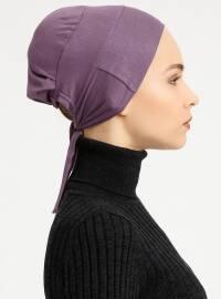Combed Cotton - Lace up - Purple - Bonnet - Tuva Şal