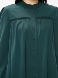 Green - Button Collar - Tunic