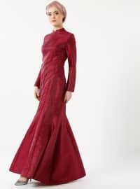 Mihrimah Abiye Elbise - Mürdüm - Mevra