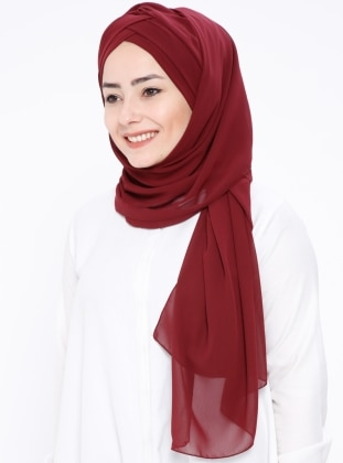 Plain - Maroon - Instant Scarf
