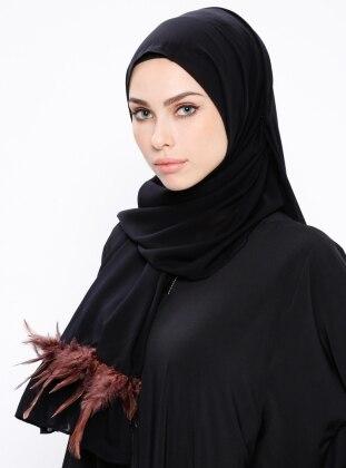 Black - Brown - Plain - Shawl - Ferrace By