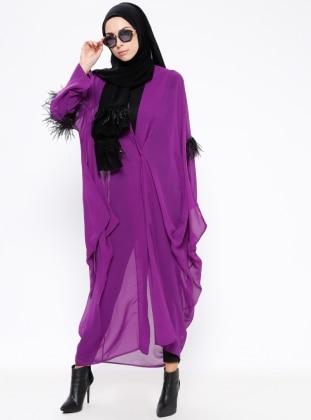 Purple - Unlined - Topcoat - Ferrace By