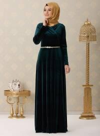Vera Abiye Elbise - Yeşil - Rana Zenn