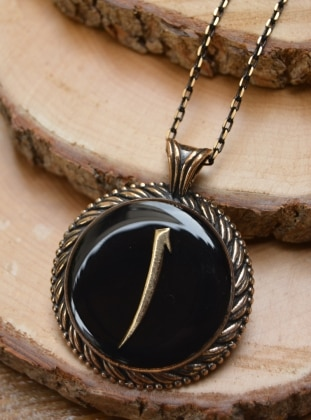 Black - Necklace - Stoneage
