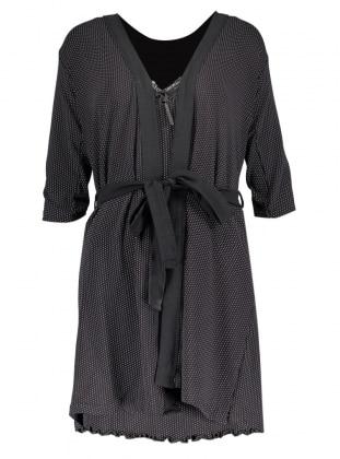 Black - White - Morning Robe