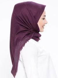 Purple - Cotton - Plaid - Scarf
